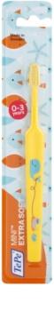 TePe Mini Illustration Periuta de dinti cu cap conic mic pentru copii foarte moale