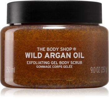 The Body Shop Wild Argan Oil tápláló testpeeling Argán olajjal