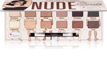 theBalm Nude Dude palette de fards à paupières avec pinceau