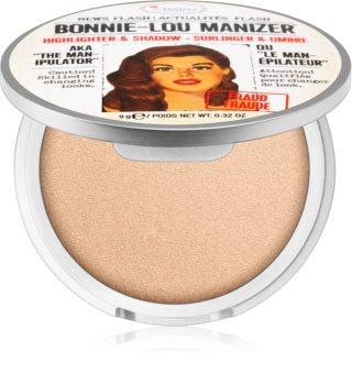 theBalm Bonnie - Lou Manizer iluminador y sombras de ojos con acabado brillante  en un solo producto