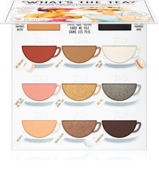 theBalm What's the Tea? Hot Tea paleta očních stínů