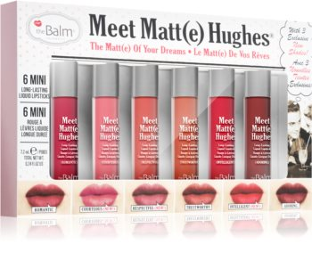 theBalm Meet Matt(e) Hughes Vol. 12 матов комплект за устни (6 бр.)