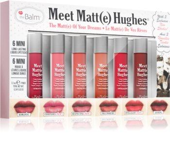 theBalm Meet Matt(e) Hughes Vol. 12 zestaw matujący do ust (6 szt.)