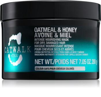TIGI Catwalk Oatmeal & Honey Intensiivinen Ravitseva Naamio Kuiville Ja Vaurioituneille Hiuksille