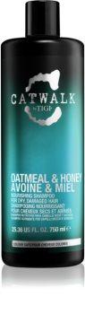 TIGI Catwalk Oatmeal & Honey vyživující šampon pro suché a zcitlivělé vlasy
