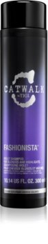 TIGI Catwalk Fashionista champú violeta para cabello rubio y con mechas