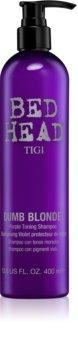 TIGI Bed Head Dumb Blonde fialový tónovací šampon pro blond vlasy