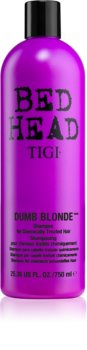 TIGI Bed Head Dumb Blonde Hiustenpesuaine Hiuksille Kemiallisen Käsittelyn Jälkeen