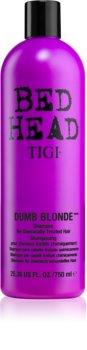 TIGI Bed Head Dumb Blonde Schampo För kemiskt behandlat hår