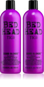 TIGI Bed Head Dumb Blonde výhodné balení VII. (pro barvené vlasy) pro ženy