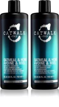 TIGI Catwalk Oatmeal & Honey изгодна опаковка I. (за увредена коса) за жени