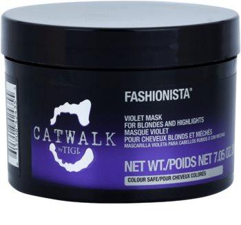 TIGI Catwalk Fashionista máscara roxa para cabelo loiro e com madeixas