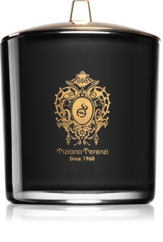 Tiziana Terenzi Laudano Nero illatos gyertya  fa kanóccal