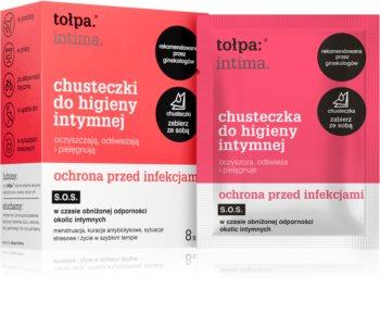 Tołpa Dermo Intima tisztító törlőkendő intim higiéniára