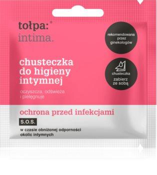 Tołpa Dermo Intima salviette detergenti delicate per le parti intime