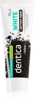 Tołpa Dentica Black White bleichende Zahnpasta mit Aktivkohle