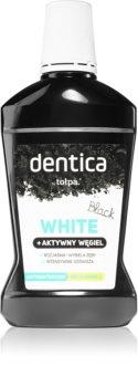 Tołpa Dentica Black White bleichendes Mundwasser mit Aktivkohle
