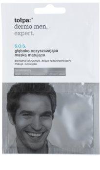 Tołpa Dermo Men Expert SOS čisticí matující maska  pro korekci pórů
