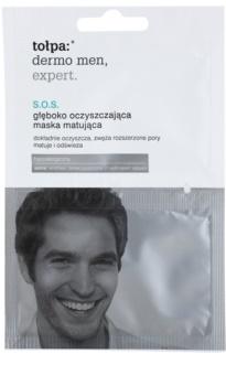 Tołpa Dermo Men Expert SOS mattierende Reinigungsmaske zur Porenkorrektur