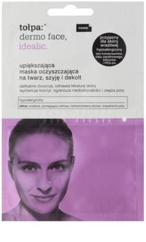 Tołpa Dermo Face Idealic mascarilla limpiadora rejuvenecedora para rostro, cuello y escote
