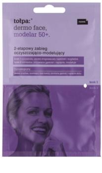 Tołpa Dermo Face Modelar 50+ limpeza e remodelação do rosto em dois passos