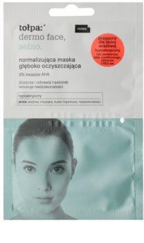 Tołpa Dermo Face Sebio maschera normalizzante detergente in profondità per pelli con imperfezioni