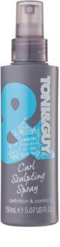 TONI&GUY Classic gel em spray  para cabelo ondulado