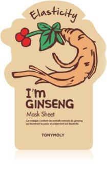 TONYMOLY I'm GINSENG plátýnková maska pro intenzivní vypnutí a rozjasnění pleti
