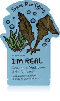 TONYMOLY I'm SEAWEED maschera in tessuto detergente e rinfrescante
