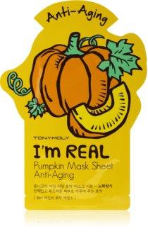 TONYMOLY I'm REAL Pumpkin Kangasnaamio Ryppyjä Ehkäisevän Vaikutuksen Kanssa