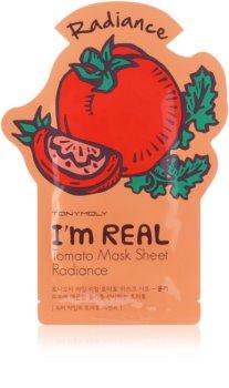 TONYMOLY I'm REAL Tomato vitalisierende textile Maske zum Aufhellen der Haut