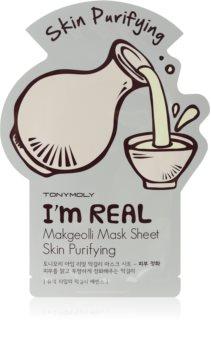 TONYMOLY I'm REAL Makgeolli maschera in tessuto effetto detergente