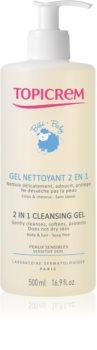 Topicrem BABY My 1st Cleansing Gel 2in1 tisztító gél testre és hajra gyermekeknek születéstől kezdődően