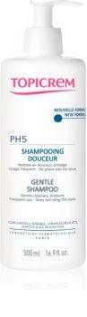 Topicrem PH5 Gentle Shampoo gyengéd sampon mindennapos használatra érzékeny fejbőrre