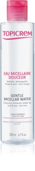 Topicrem UH FACE Gentle Micellar Water finoman tisztító micellás víz az érzékeny arcbőrre és szemekre