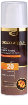 Topvet Chocolate Sun Bräunungsmilch SPF 20