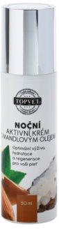 Topvet Face Care creme de noite nutritivo com óleo de amêndoas