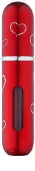 Travalo Classic HD Hearts пълнещ се разпръсквач унисекс 5 мл.  Red