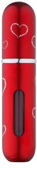 Travalo Classic HD Hearts sticluta reincarcabila cu atomizér unisex 5 ml  Red