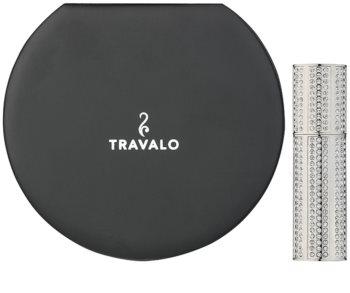 Travalo Divine ψεκαστήρας αρώματος με κρύσταλλα swarovski unisex Silver