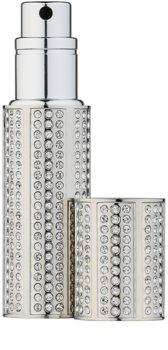 Travalo Divine vaporizador de perfume recarregável com cristais swarovski unissexo Silver