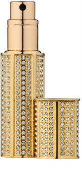 Travalo Divine sticluță reîncărcabilă cu atomizor cu cristale swarovski unisex Gold