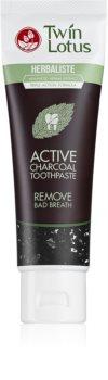 Twin Lotus Herbaliste Active Charcoal φυτική οδοντόκρεμα χωρίς φθόριο