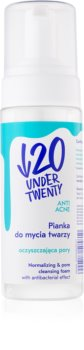 Under Twenty ANTI! ACNE mousse de limpeza para pele oleosa propensa a acne