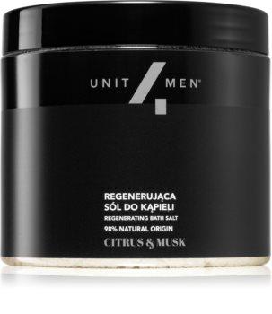 Unit4Men Bath Salt Citrus & Musk koupelová sůl s regeneračním účinkem