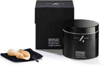 Unit4Men Bath Set Citrus & Musk koupelová sůl s regeneračním účinkem