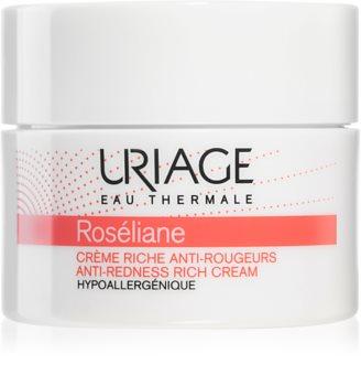 Uriage Roséliane Anti-Redness Rich Cream Ravitseva Päivävoide Herkälle, Punoitukselle Alttiille Iholle
