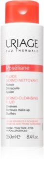 Uriage Roséliane Dermo-Cleansing Fluid Reinigungsfluid für empfindliche Haut mit der Neigung zum Erröten