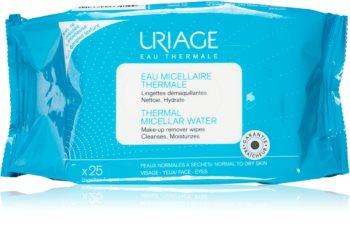 Uriage Hygiène Thermal Micellar Water - Normal to Dry Skin кърпички за почистване на грим за нормална и суха кожа