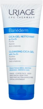 Uriage Bariéderm Cica Soothing Cleansing Gel on Cracked Skin